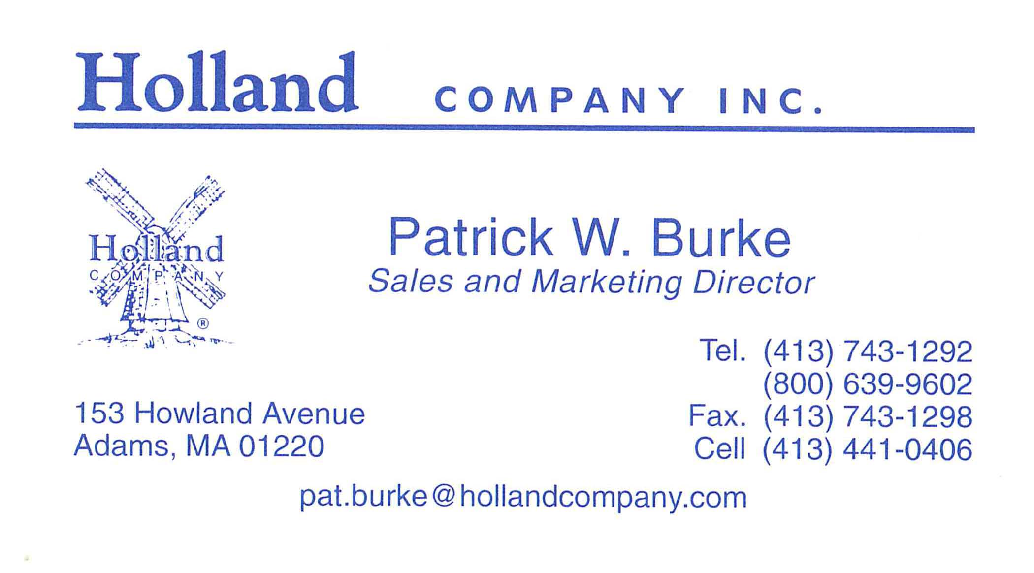 Holland Business Card Ad